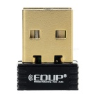 EDUP EP-N8553 Mini 150Mbps USB Wireless Network Card Nano Adapter - Black + Golden