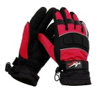 PRO-BIKER Motorcycle Outdoor Water Resistant Warm Full-Finger Gloves - Black + Red (M / Pair)