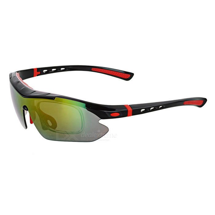 CTSmart SP0890 Windproof Polarized Sunglasses Goggles - Black + Red