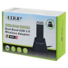 EDUP EP-AC1609 2.4G & 5.8G USB 3.0 Wi-Fi Adapter Network Card - Black