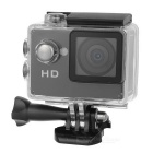 "Waterproof 2.0"" LCD CMOS 0.3MP 720P 90' Wide-Angle Sports Camera w/ TF, Micro USB - Black"