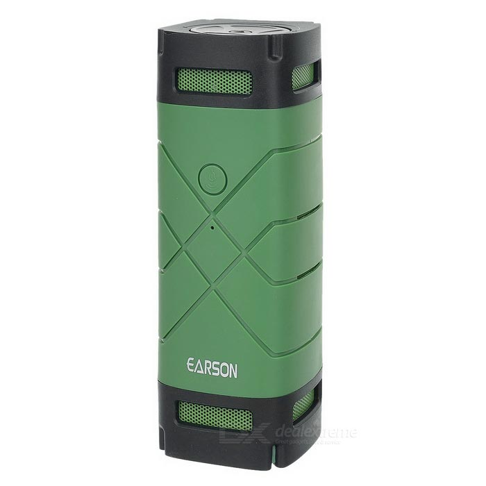 EARSON ER-163 Bluetooth V4.0 Speaker w/ TF + Bike Holder - Dark Green