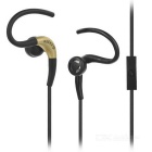 KEEKA KA-34 Universal Earhook Earphone w/ Mic for IPHONE / Samsung / HTC / Nokia - Black (3.5mm)