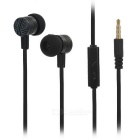 Universal In-Ear Earphone w/ Microphone for IPHONE / Samsung / HTC / Nokia + More - Black (3.5mm)