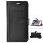 Protective Flip-open PU Leather Case w/ Card Slot for IPHONE 6 Plus - Black