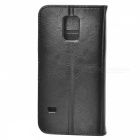 Lichee Pattern Flip-open PU Case for Samsung Galaxy S5 Mini - Black