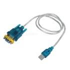 USB 2.0 to RS232 Cable + RS232 Female to Female Adapter Set - Blue Green + White