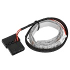 Cwxuan DIY Blue LED Light Strip w/ 4-Pin for PC Case - Black + White