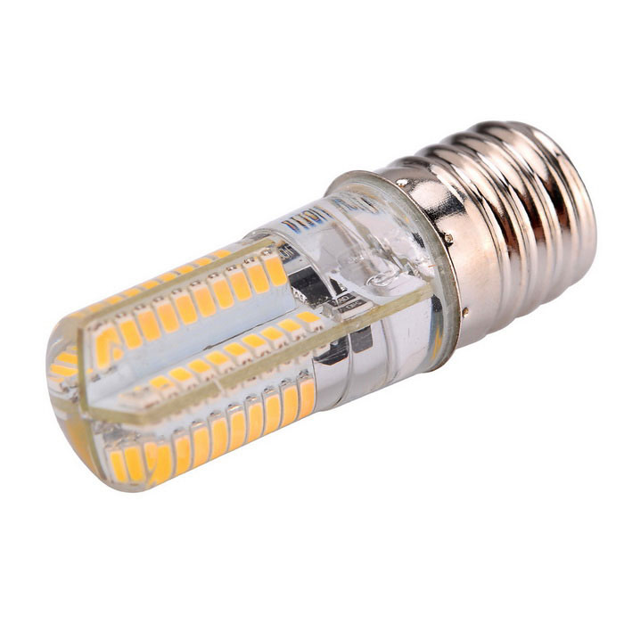 Dimmable E17 5W 80-SMD 301 4450lm 3000K Warm White Light LED Corn Bulb
