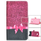 Strik flip-open pu Case w / stand / Card Slot voor Samsung Galaxy S6 Edge Plus - Deep Pink