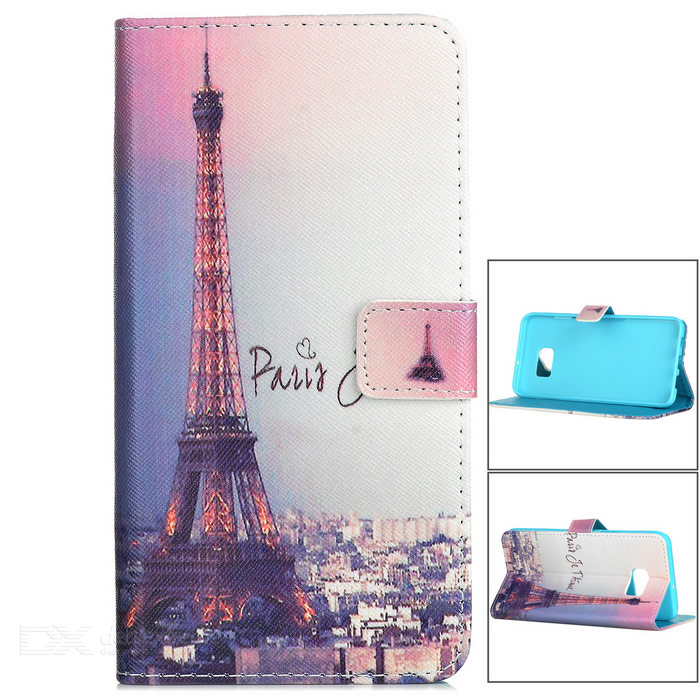 Eiffel Tower Style Case w/ Magnetic Buckle for Samsung S6 Edge Plus
