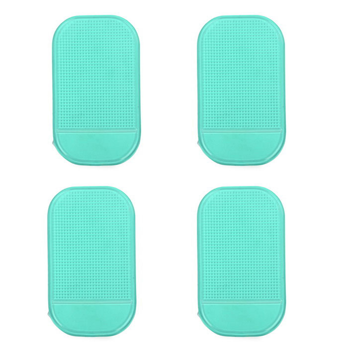 PU Car Anti-Slip Non-Slip Pad Mat - Green (4PCS)