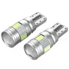 T10 2W LED Decode Lamp / Signal Light / Steering light Ice Blue 483nm 60lm 6-SMD 5730 (2 PCS / 12V)