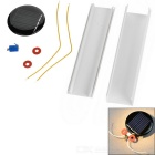 DIY Round Solar Powered Beetle Toy - Black + Red + Multicolor