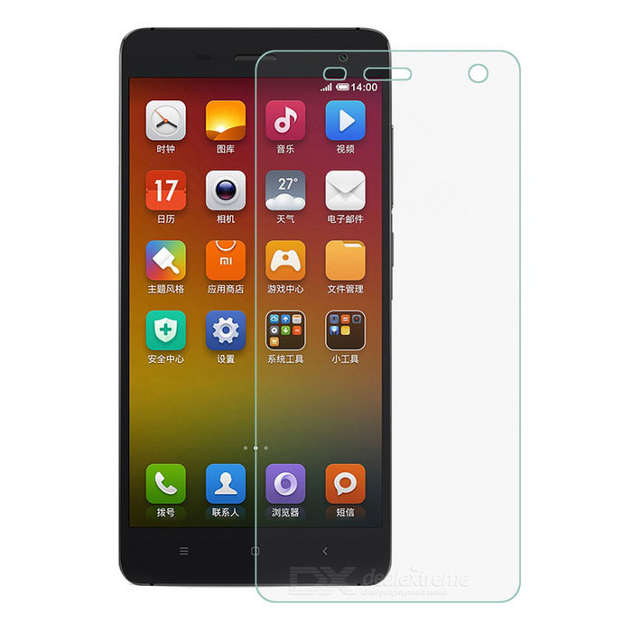 FineSource Soft Nano Tempered Glass Screen Guard Protector voor Xiaomi 4 - Doorzichtig