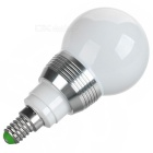 E14 3W Dimmable RGB LED Energy Saving Ball Steep Light w/ Remote