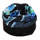 NUCKILY Cycling Face Mask / Neck Scarf / Headband - Black + Blue