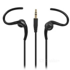 Universal Ear-hook Headset w/ Microphone for IPHONE / Samsung / HTC / Nokia - Black (3.5mm)