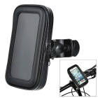 "Motorcycle / Bike Mount Holder w/ Waterproof Storing Bag for 4~4.5"" Screen Cellphones - Black"