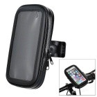 "Motorcycle / Bike Mount Holder w/ Waterproof Storing Bag for 5"" Screen Cellphones - Black"