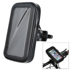 "Motorcycle / Bike Mount Holder w/ Waterproof Storing Bag for 5.5~6"" Screen Cellphones - Black"