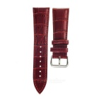 PUDINI Split Leather Watch Band,Screen Film for 42mm APPLE WATCH - Red