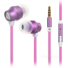 USAMS Mensa Series Noise Isolation In-Ear Earphone w/ Mic. - Deep Pink + Purple (3.5mm Plug/122cm )