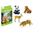 DIY 3D Puzzle Animals Toy - Yellow + Black + White