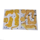 DIY 4-In-1 3D Puzzle AR/Ctic Animals Toy - Yellow + Black + White