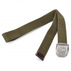 TOUGH Men Free Size Durable Green Belt with Metal Buckle (116CM-Length)