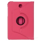 360' Rotating Smart Case w/ Stand for Samsung Tab A 8.0 - Deep Pink