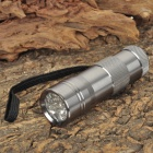 12-LED UV Flashlight Silver (3xAAA)