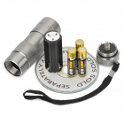 12-LED 20~30lm UV Flashlight Silver (3xAAA)