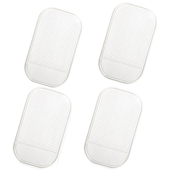 PU Car Anti-Slip Non-Slip Pad Mat - White (4PCS)Anti-slip Mats<br>Form ColorWhiteModelN/AMaterialPUQuantity4 DX.PCM.Model.AttributeModel.UnitShade Of ColorWhiteDimension14 x 8.2 x 0.3 DX.PCM.Model.AttributeModel.UnitPacking List4 x Anti-slip mats<br>