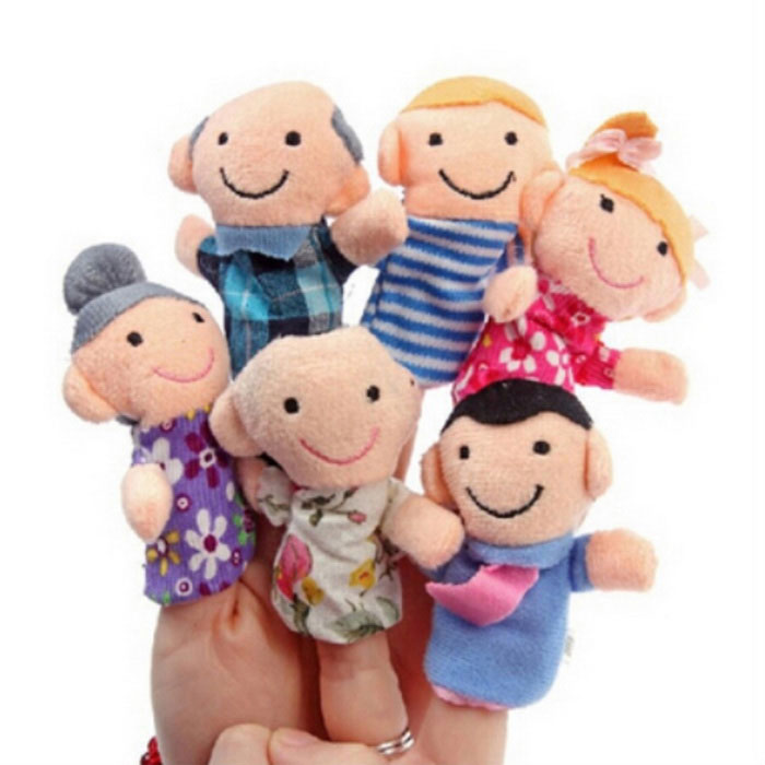 Happy Family Plush Finger Toys - Multicolored (6PCS)