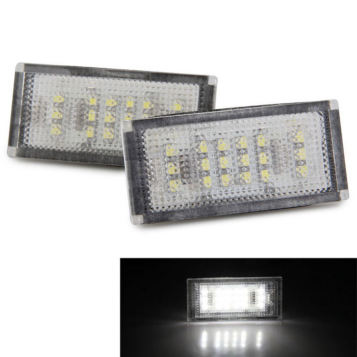 Qook 18-LED Car License Plate Light White for BMW E46 2D 04-06 (2PCS)