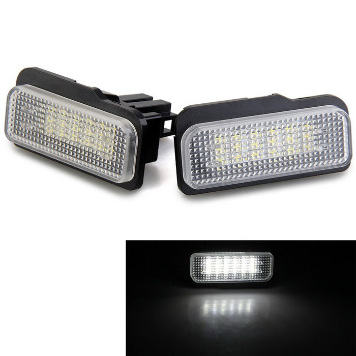 Qook LED License Plate Light White 18-SMD for BENZ W203 W211 (2PCS)