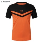 Ling Sai LS08 Herren Kurzarm T-Shirt - Orange (L)