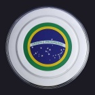 Aoluguya Brazil Flag Style Qi Wireless Charger Transmitter - White