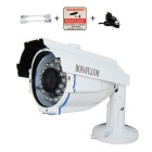 HOSAFE 1MB8W 1.0MP 720P HD IP-Kamera w / POE-Kit, 24-IR-LED, ONVIF, Bewegungserkennung (EU-Stecker)