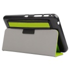 "Toothpick Grain PU Case w/ Stand for Samsung Tab 4 7"" T230 - Green"