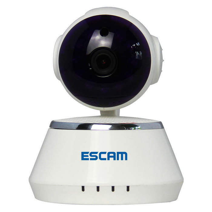 "ESCAM Secure Dog QF510 1/4"" CMOS 1MP Alarm IP-kamera - Hvit (US-plugger)"
