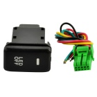 B-Type Car Foglight Switch w/ Yellow LED Indicator for Toyota - Black