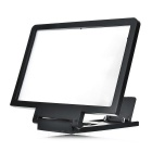 Portable Foldable Screen 3X Enlarging Magnifier Desktop Mount Holder for IPHONE + More - Black