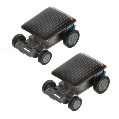 Small Solar Powered Car Toys - Black (2PCS)