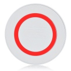 Mini Qi Wireless Charger Pad for Samsung Galaxy S6 - White + Red
