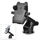 Car Mount Suction Cup Holder w/ Phone Clip for Samsung Galaxy Note 5 - Black