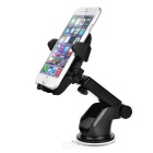 Car Mount Suction Cup Holder w/ Phone Clip for Samsung Note 5 - Black