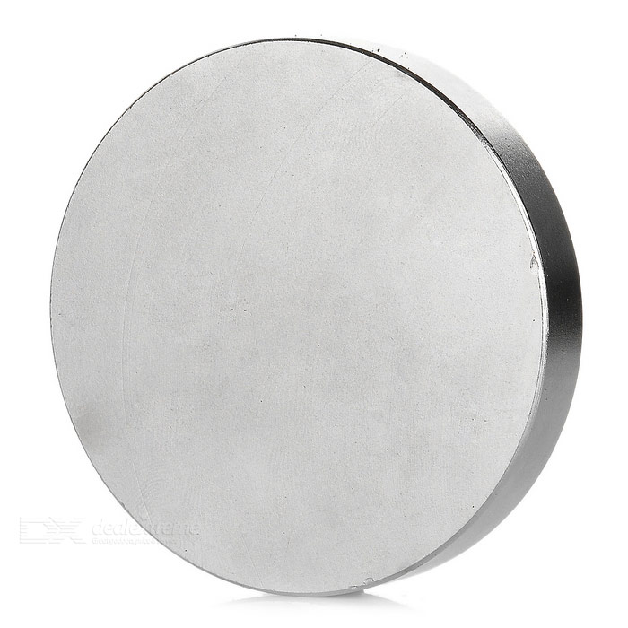 Round Shaped 60*10mm NdFeB Magnet - Silver