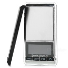 "1.9"" LCD Screen Pocket Digital Balance Scale - Black + Silver (500g / 0.1g / 2 x AAA)"